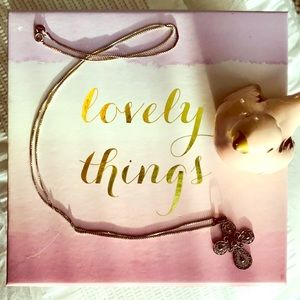 "Jewelry - Beautiful VINTAGE Silver Patina Filigree Cross 30"""